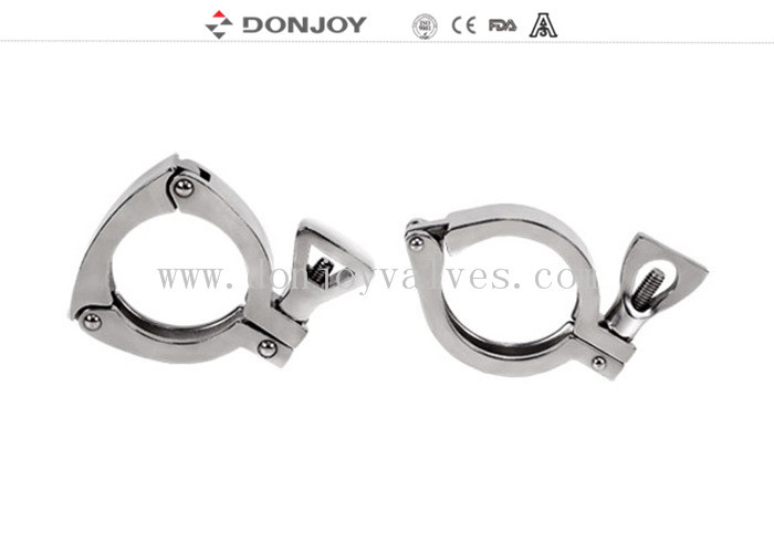 SS304 Sanitary Stainless Steel Sanitary Fittings Clamp 13MHHP-3P Food Grade Clamp DIN / 3A