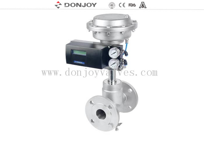 Plastic Actuator Regulation Pneumatic Angle Seat Valve , Steam Angle Valve